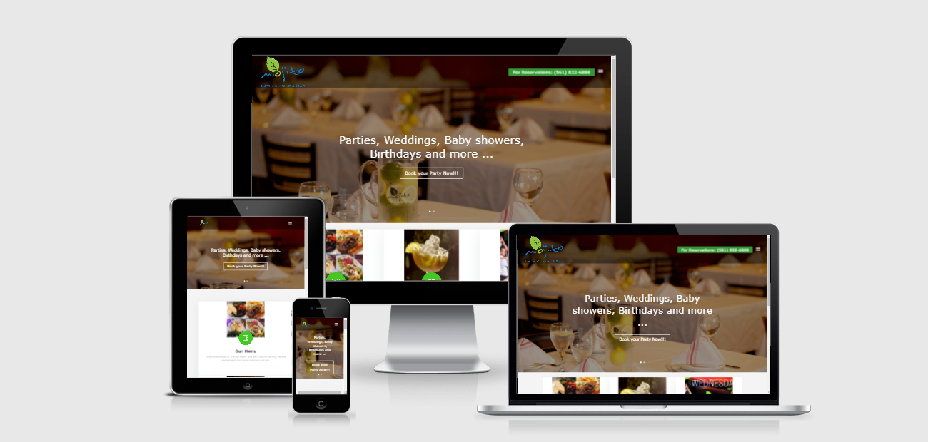 Responsive Web Design for Mojito Latin Cuisine and Bar