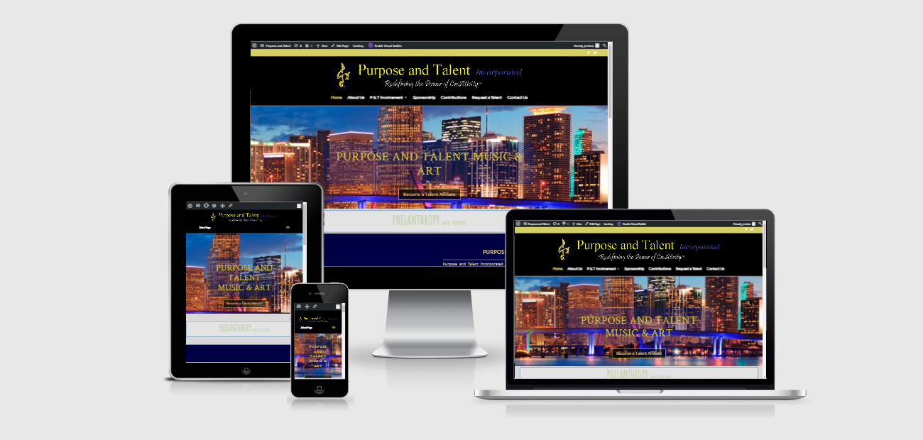 Responsive Web Design for purpose and talent