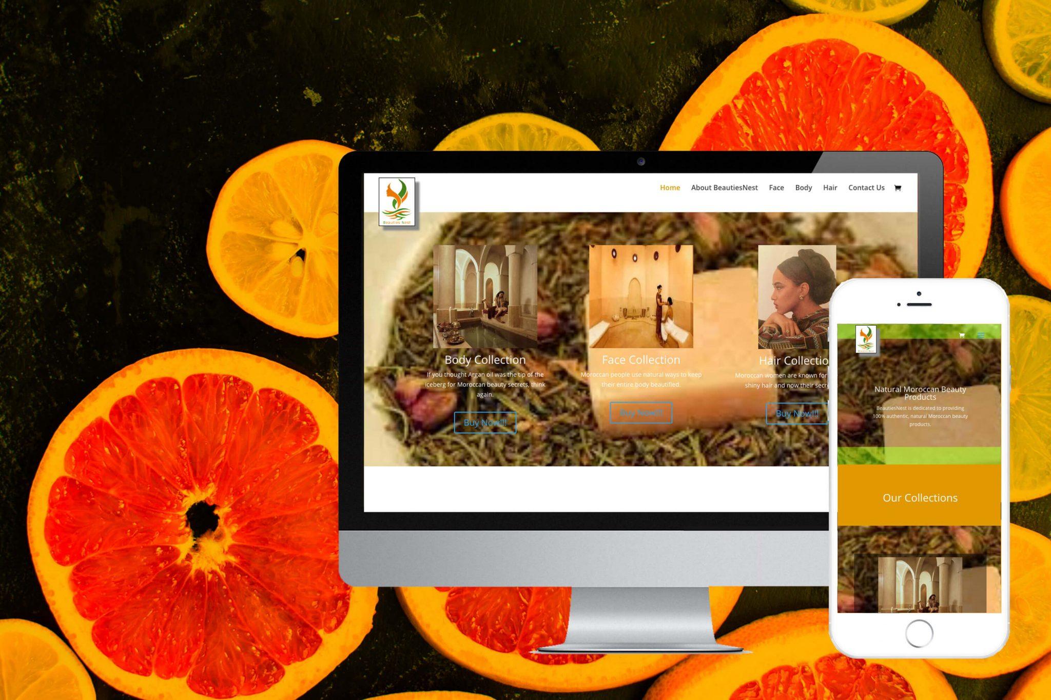 Beauties nest responsive web design
