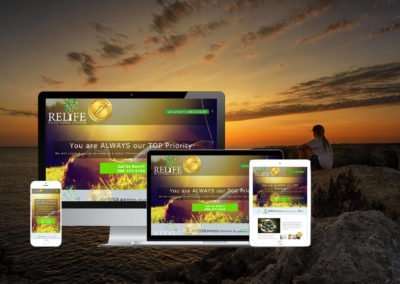 Responsive Design for Relife Solutions center