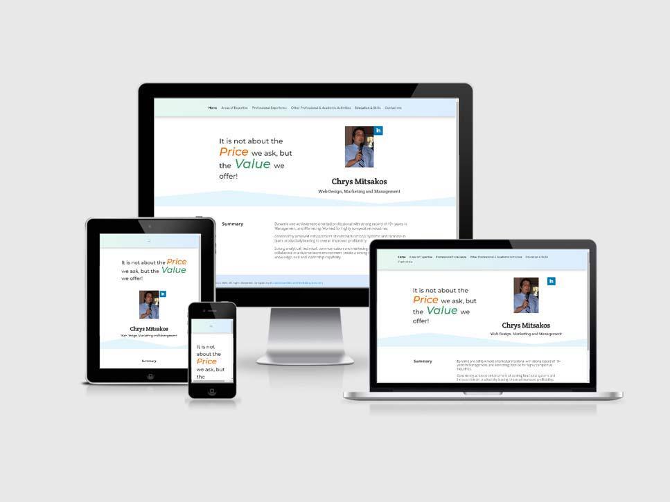 Chrys Mitsakos Personal Website